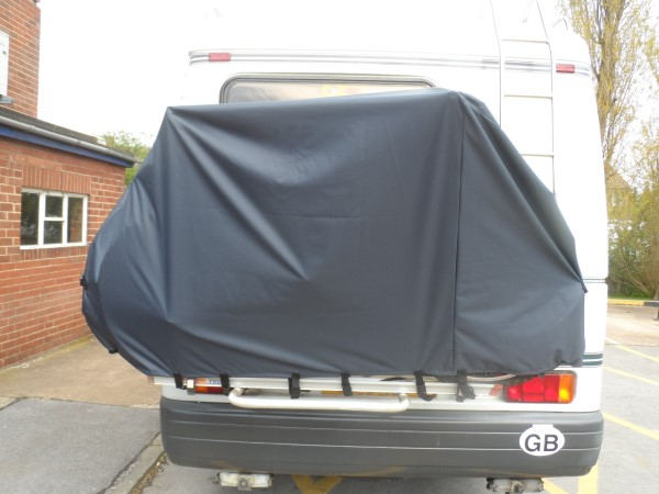 Motorhome 2 Bike Waterproof Cover With Zips And Webbings