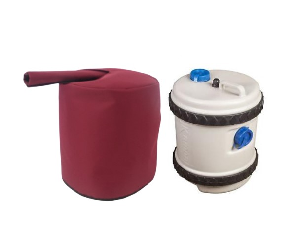 roly poly carrier and insulated cover burgundy