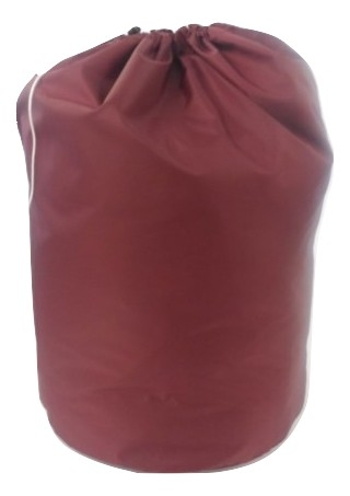 round bag with drawstring