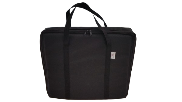 tv bag with base black A