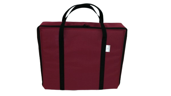 tv bag with base burgundy A