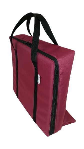 tv bag with base burgundy B