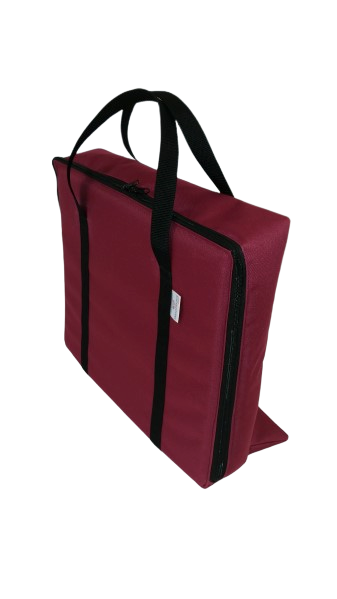 tv bag with base burgundy C
