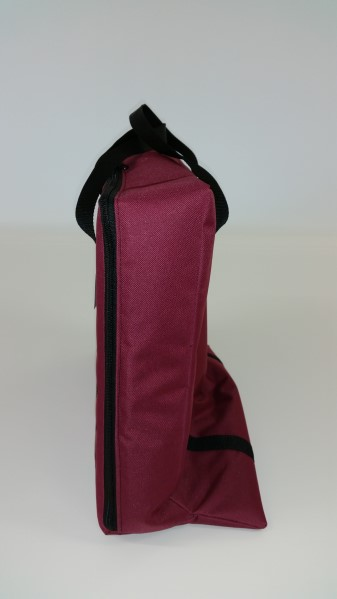 tv bag burgundy