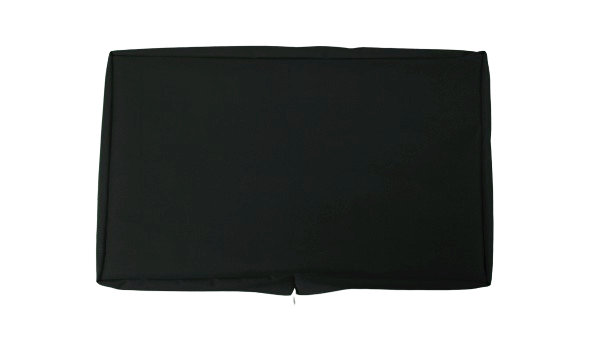 wall mounted tv cover black