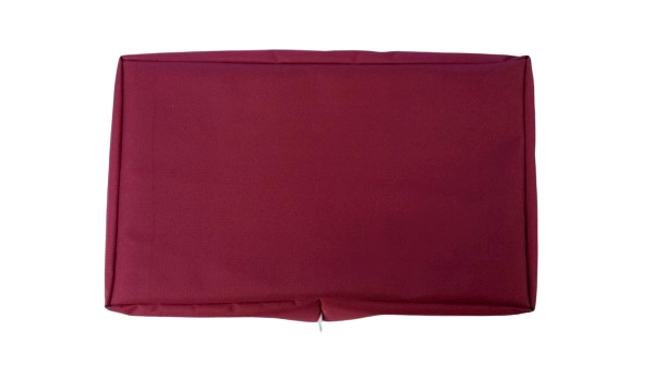 wall mounted tv cover burgundy
